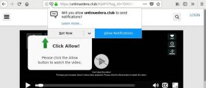 remove Untinuedera.club pop-ups