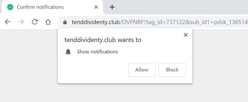 remove tenddividenty.club pop-up