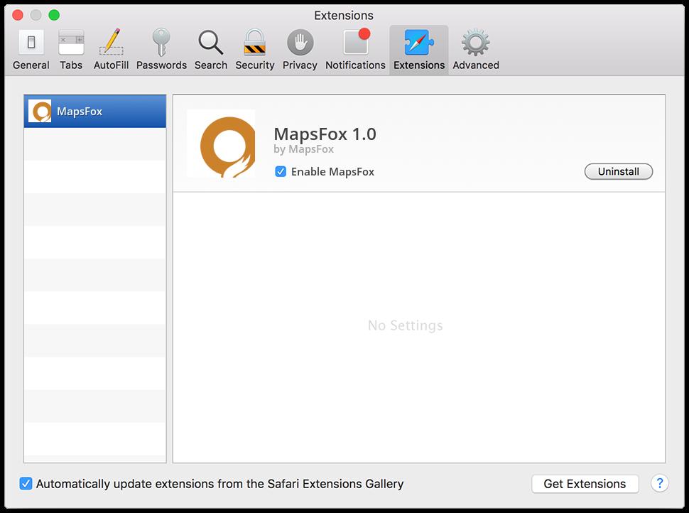 remove MapsFox