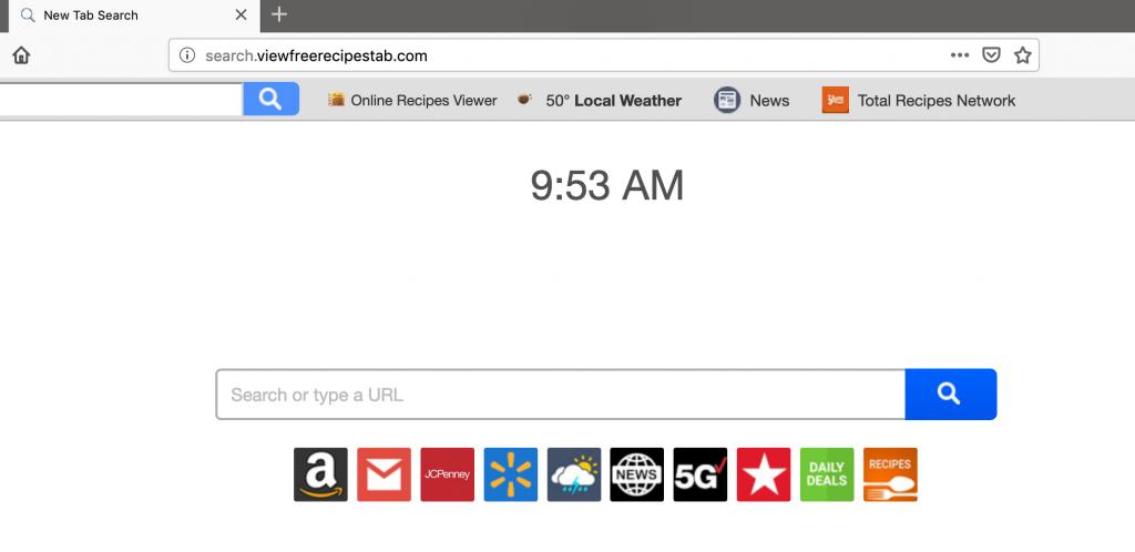 remove Search.viewfreerecipestab.com