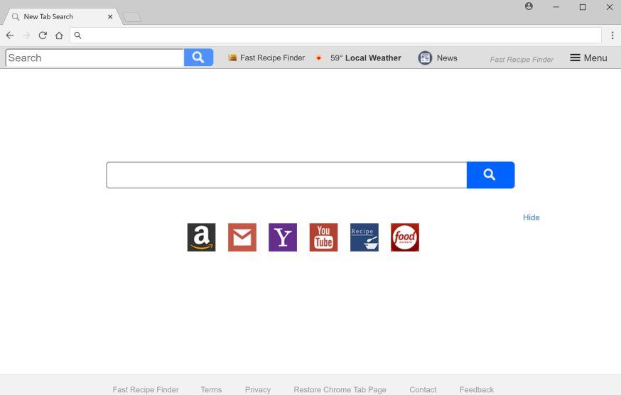 remove Search.hfastrecipefinder.com
