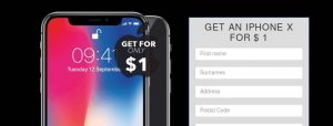 """remove """"get an iPhone X for $1"""" pop-up"""