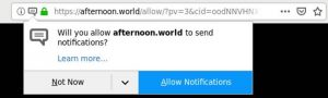 remove afternoon.world redirect